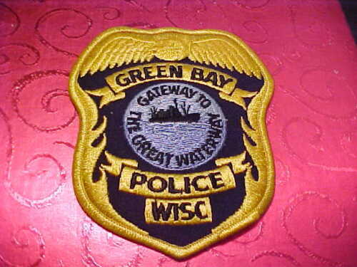 GREEN BAY WISCONSIN POLICE PATCH SHOULDER SIZE UNUSED
