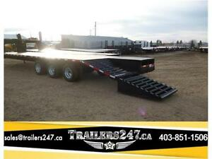 New SWS 36ft Gooseneck w/Monster Ramps & (3) Dual 10k Axles