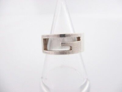 Auth GUCCI Silver Ring #10