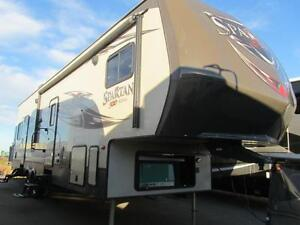 2015 36 FT PRIME TIME RV SPARTAN 300 SERIES 3210 TOY HAULER