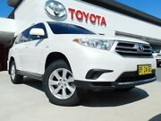 2013 Toyota Kluger GSU40R MY13 Upgrade KX-R (FWD) 5 Seat White 5 Speed Automatic Wagon Greenway Tuggeranong Preview