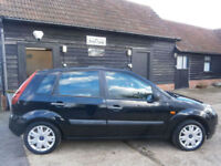 56 FORD FIESTA 1.4TDCi TURBO DIESEL STYLE 5DR 123K NEW MOT NO ADVISORIES BLACK