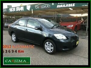 2012 Toyota Yaris NCP93R 10 Upgrade YRS Grey 4 Speed Automatic Sedan Seven Hills Blacktown Area Preview