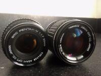 2 x Rare Pentax Legacy lenses. Both adapt to Sony, fuji, Nikon, canon mirrorless)