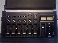 SONY MX650 AUDIO SOUND MIXER PROFESSIONAL PORTABLE 6 CHANNELS SWITCHABLE.