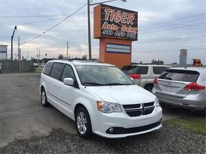 2014 Dodge Grand Caravan Crew**LEATHER**DUAL DVD***ONLY 90 KMS**