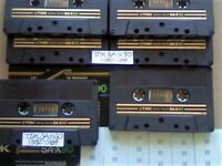 A2Z JL 6x VERY RARE TDK SA-X 60 90 DUAL LAYER CHROME CASSETTE TAPES 1982-1984 W/ CARDS CASES LABELS