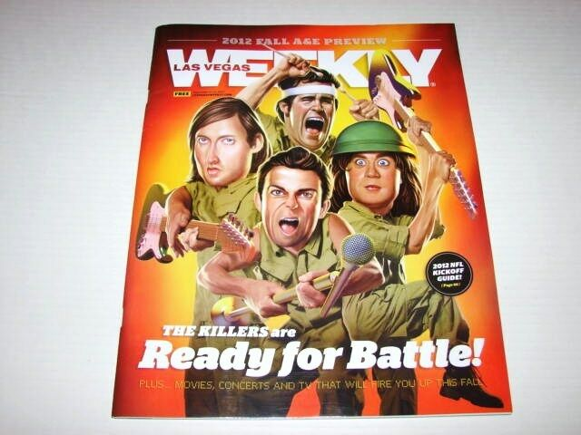 Las Vegas Weekly Sep 2012 Issue The Killers Battle Born Hometown Magazine NEW