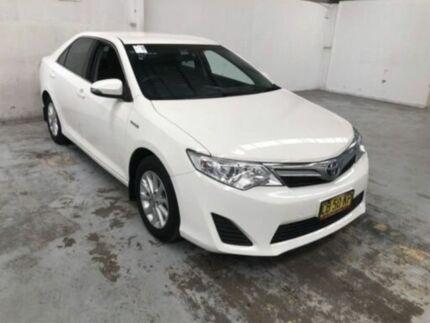 2014 Toyota Camry AVV50R Hybrid H White Continuous Variable Sedan Gateshead Lake Macquarie Area Preview