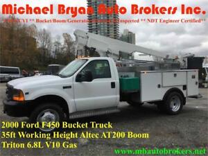2000 FORD F450 35FT BUCKET TRUCK *ALTEC AT200A BOOM* GREAT PRICE