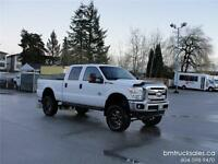 2011 FORD F-250 CREW CAB SHORT BOX 4X4 LEATHER LIFTED DIESEL