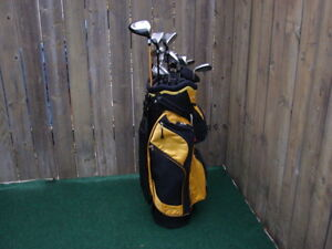 Men's RH Taylormade golf club set & Men's RH Wilson Fat shafts