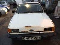 Classic Car 1986 mark 2 Ford Fiesta, starts and drives well, car located in Gravesend Kent, no MOT,
