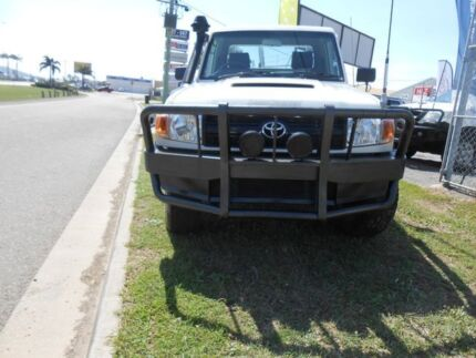 2008 Toyota Landcruiser VDJ79R Workmate White 5 Speed Manual Trayback Garbutt Townsville City Preview