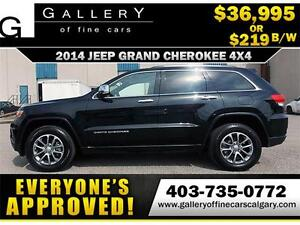 2014 Grand Cherokee LIMITED $219 bi-weekly APPLY NOW DRIVE NOW