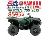 2015 YAMAHA GRIZZLY 700 FI EN LIQUIDATION!