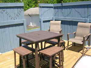 Patio table and stools
