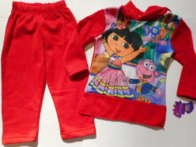 Dora the Explorer Monkey Girls clothes Outfits Pants Shirts Hoodie Red 5/6,6X