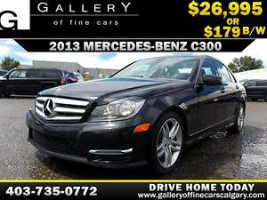 2013 Mercedes C300 4Matic $179 bi-weekly APPLY NOW DRIVE NOW