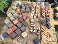 460+ Reclaimed Victorian floor tiles + Odds & Sods