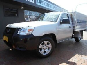 2008 Mazda BT-50 08 Upgrade B2500 DX Silver 5 Speed Manual Cab Chassis Croydon Burwood Area Preview