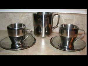 Ensemble Espresso Stainless - Espresso cups & frother