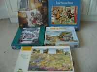 5 jig saw puzzels 2x 500 pieces 3 x 1000 pieces £7 the lot thick quality puzzels