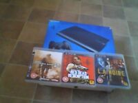 PLAYSTATION 3, 12gb, with 3 games and 2 controllers