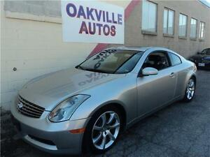 2005 Infiniti G35 Coupe-NAVIGATION-LEATHER-SUNROOF-WINTER TIRES