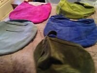 Real Suede Handbags - Fabulous Colour Selection of Large Suede Shoulder Bags - immaculate condition