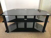 TV Unit - Black Glass