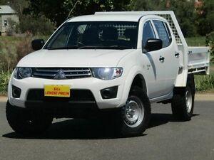 2012 Mitsubishi Triton MN MY12 GLX Double Cab White 5 Speed Manual Utility Strathalbyn Alexandrina Area Preview