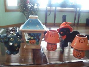 Halloween Items, tealites, candles