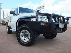2012 Nissan Patrol Y61 GU 6 SII MY13 DX White 5 Speed Manual Cab Chassis Rosslea Townsville City Preview