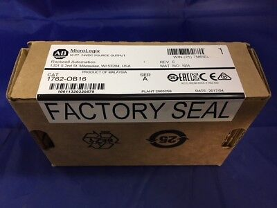 NEW* AB MicroLogix PLC 1762-OB16, 16 PT. 24VDC OUTPUT, Ser. A, used for sale  Portsmouth