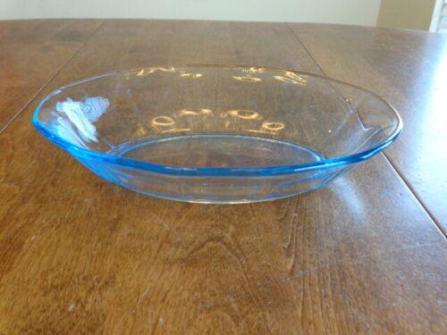 FOSTORIA GLASS FAIRFAX BLUE OVAL BAKER