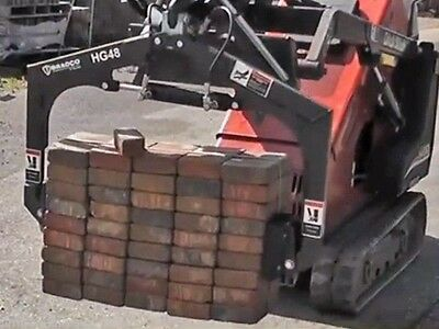 Multi Use Skid Steer Grapplegreat For Paversrocksblocks Fits Mini Loaders