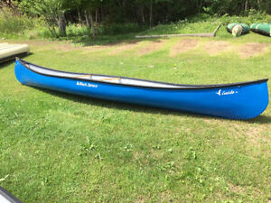 Black Spruce Fiberglass canoes on year end clearance now