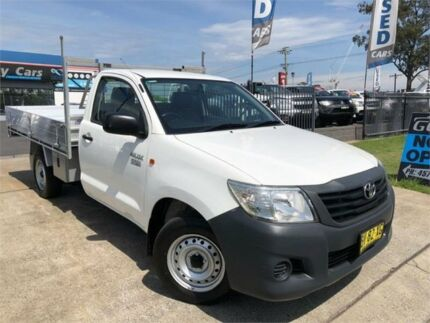 2013 Toyota Hilux TGN16R MY12 Workmate White Manual Cab Chassis Mulgrave Hawkesbury Area Preview
