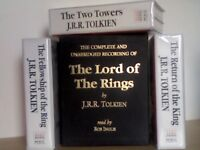 JRR TOLKIEN LORD OF THE RINGS TRILOGY 38 CASSETTE TAPES GIFT BOX SET 1990 ISIS AUDIO BOOKS R INGLIS.