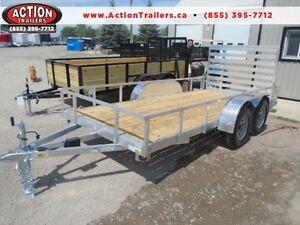 ALL ALUMINUM TRAILER 4 THE SAME PRICE AS STEEL -6X14 UTILITY TRL London Ontario image 1