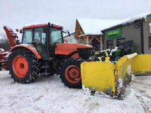 2007 KUBOTA M125X  TRACTOR WITH SNOW BLADE AND BLOWER