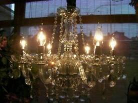 ~ Gorgeous ~ Large elegant 6 Light French style crystal chandelier