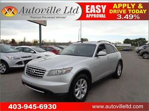 2006 Infiniti FX35 AWD Nav Cam Sunroof Leather Everyone Approved