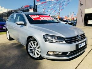 2011 Volkswagen Passat 3C MY12 125 TDI Highline Silver Metallic 6 Speed Direct Shift Wagon Brooklyn Brimbank Area Preview