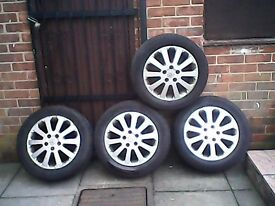 vauxhall 16 inc alloy wheels and tyres