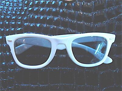 Vintage 1970 Wayfarer Sonnenbrille Neu / Neu Weiß