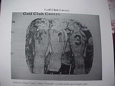 Knitting Machine Pattern for Golf Club Covers-Standard Gauge Knitting Machine