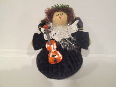 VINTAGE HANDMADE PIN CUSHION - 7 INCHES TALL BY 4 INCHES WIDE