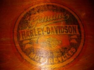 Antique 1950 harley davidson dealer parts & tool wood case